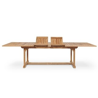 Ihland Natural Teak Extension Dining Table
