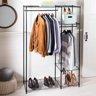 "happimess Esther 70.8"" Wardrobe Storage, Black"