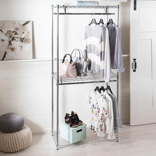 "happimess Elizabeth 78.7"" Double-Rail Garment Rack, Chrome"