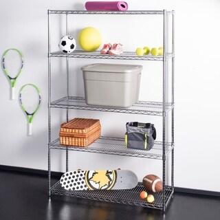 "happimess Charlotte 72.8"" 5-Shelf Wire Rack, Chrome"