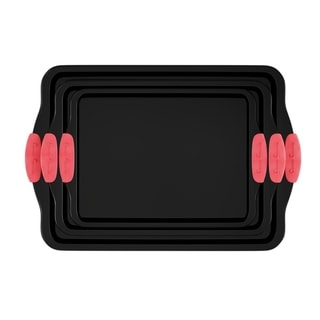 Link to Baking Pans-3PC. Nonstick Cookie Sheet Set, Silicone Handles by Classic Cuisine Similar Items in Bakeware