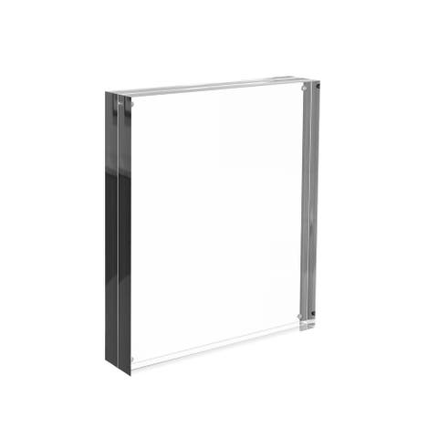 Acrylic Picture Frame 8x10 in Clear Freestanding Frame by Lavish Home