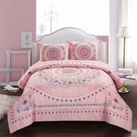 Flowering Medallion Comforter Set