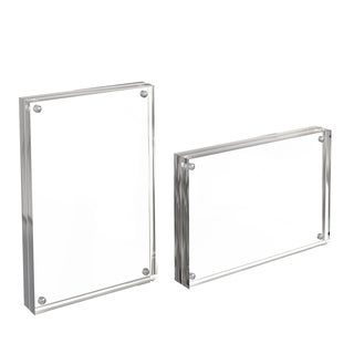 Acrylic Clear Freestanding Frames 5x7 Set of 2 by Lavish Home