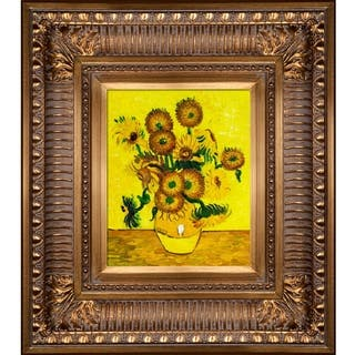 Vincent Van Gogh 'Vase with Fifteen Sunflowers' Hand Painted Oil Reproduction
