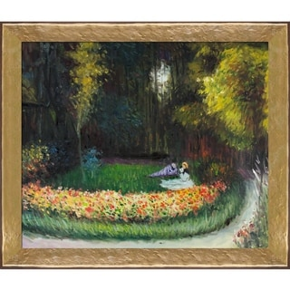 Claude Monet 'In the Garden' Hand Painted Oil Reproduction