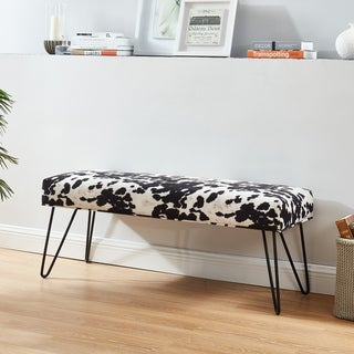 Faux Cowhide Double Bench