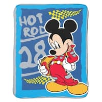 Disney Mickey Mouse Clubhouse Roadster Racer Plush Throw