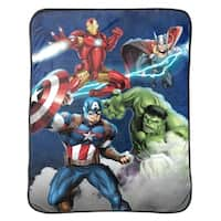 Marvel Avengers Blue Circle Throw