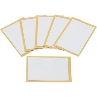 Storex Label Pockets with Adhesive Backing, 2 x 3 Inches, 6-Pack