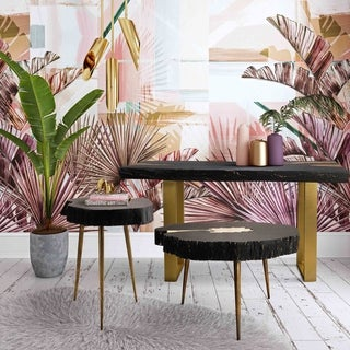 Timber Black and Brass Cocktail Table
