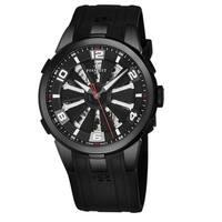 Perrelet Men's A1081/1 'Turbine Skeleton' Black Skeleton Dial Black Rubber Strap Automatic Watch