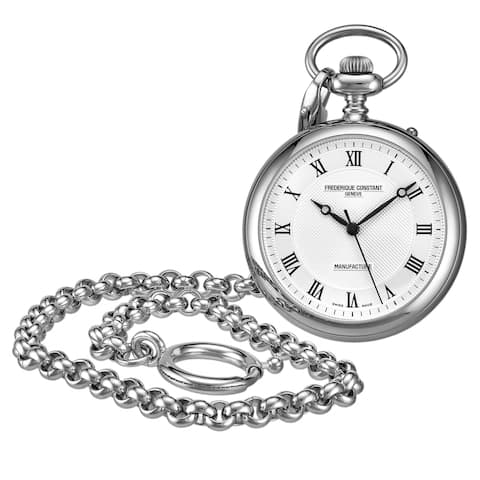 Frederique Constant Men's FC-700MC6PW6 'Pocket Watch' Silver Dial Stainless Steel Automatic Watch