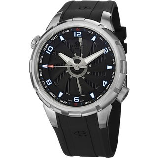 Perrelet Men's A1066/4 'Turbine Yacht' Black Dial Black Rubber Strap Automatic Watch