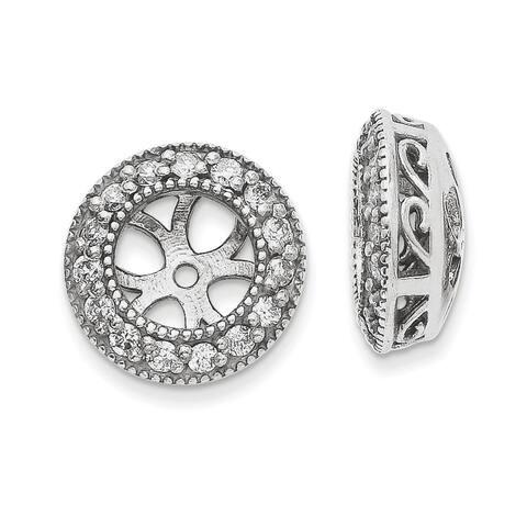 Versil 14 Karat White Gold Certified Lab Grown Diamond Earring Jackets