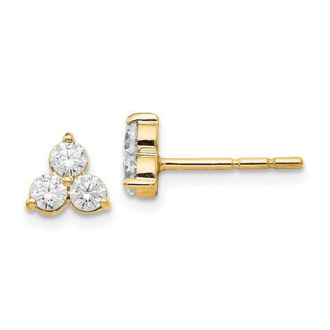 Versil 14 Karat Yellow Gold Certified Lab Grown Diamond Earrings