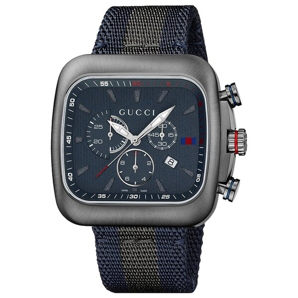 4267c13b6 Shop Gucci YA131203 Men s G-Coupe Blue Quartz Watch - Free Shipping ...