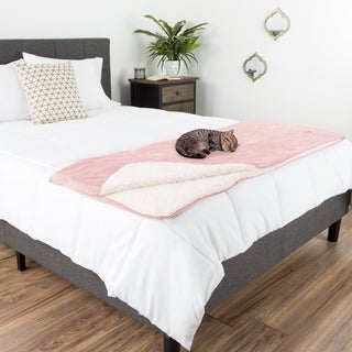 Waterproof Pet Blanket 50x 60in Soft Plush Throw by Petmaker
