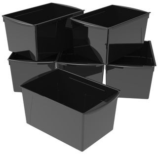 Storex Extra Large Book Bin, 14.5 x 9.2 x 7 Inches, 6-Pack