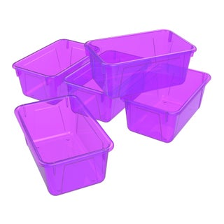 Storex Small Cubby Bin, Candy Colors, 5-Pack
