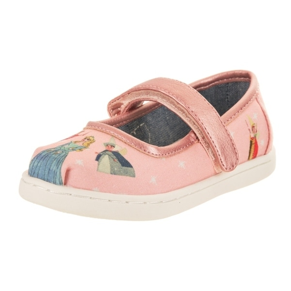 2b077370ae4 Shop Toms Tiny Toddlers Mary Jane Pink Sleeping Beauty Slip-On Shoe ...