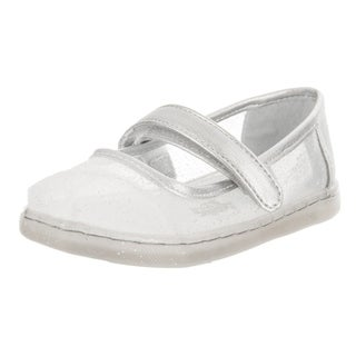 Toms Tiny Toddlers Mary Jane Silver Cinderella Slip-On Shoe