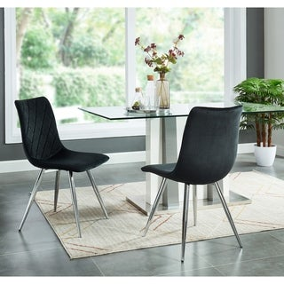 Link to Contemporary Velvet/Chrome Side Chair,Set of 2 Similar Items in Dining Room & Bar Furniture