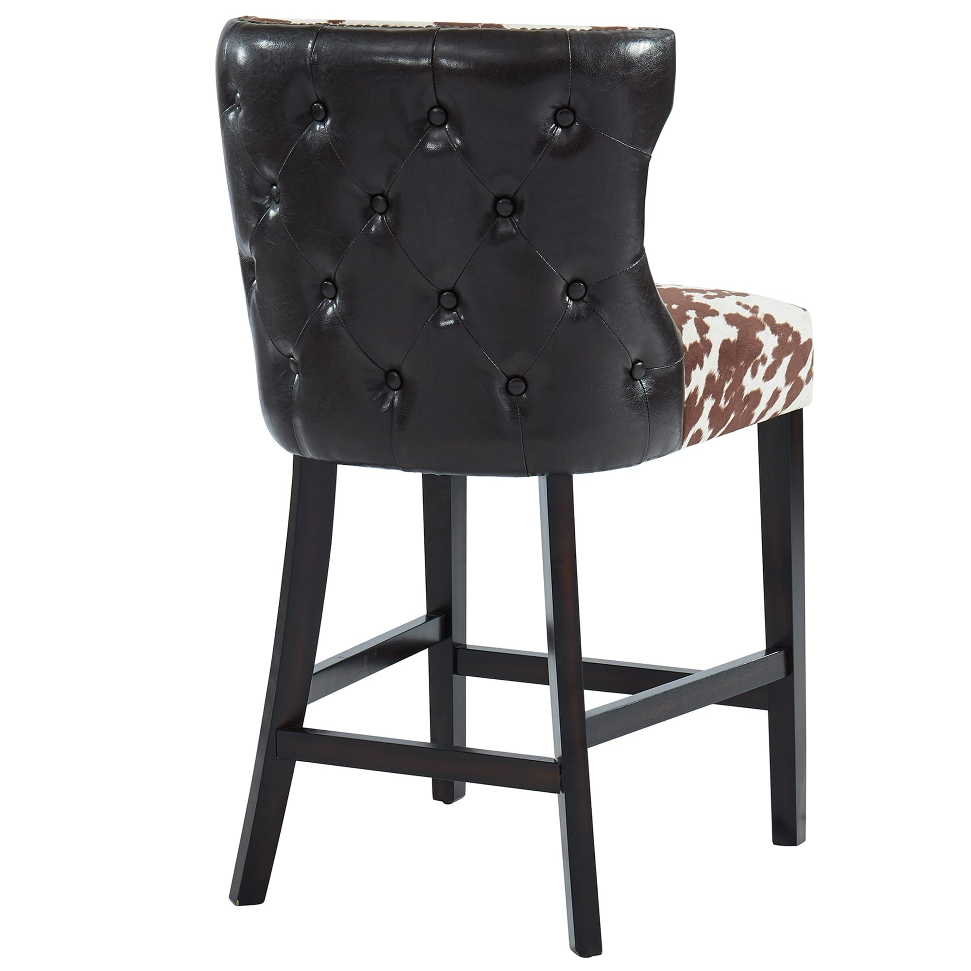 best loved 83aab 2175d Faux Cowhide Counter Stool, Set of 2