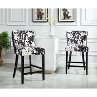 Faux Cowhide Counter Stool, Set of 2