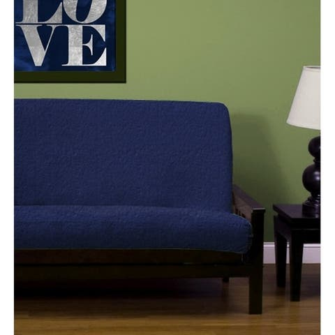 Lifestyle Covers Faux Leather Vinyl Navy Blue Full-size Futon Cover