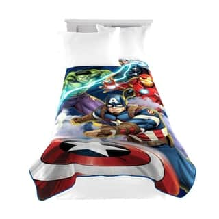 Marvel Avengers Blue Circle Twin Blanket
