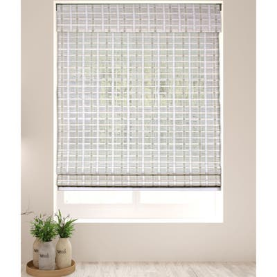 Arlo Blinds Whitewash Bamboo Shades with 74 Inch Height
