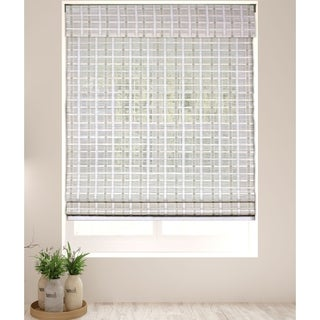 Arlo Blinds Cordless Lift Whitewash Bamboo Shades with 74 Inch Height