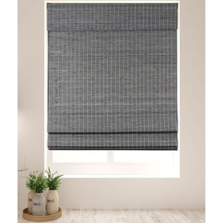 Arlo Blinds Cordless Lift Privacy Grey-Brown Bamboo Roman Shades with 74 Inch Height