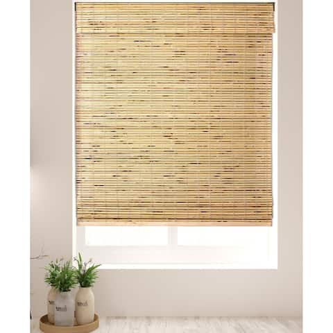 Arlo Blinds Petite Rustique Bamboo Roman Shades with 74 Inch Height