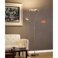 Artiva Lumineux 71-inch Satin Nickel LED Torchiere with Reading Light