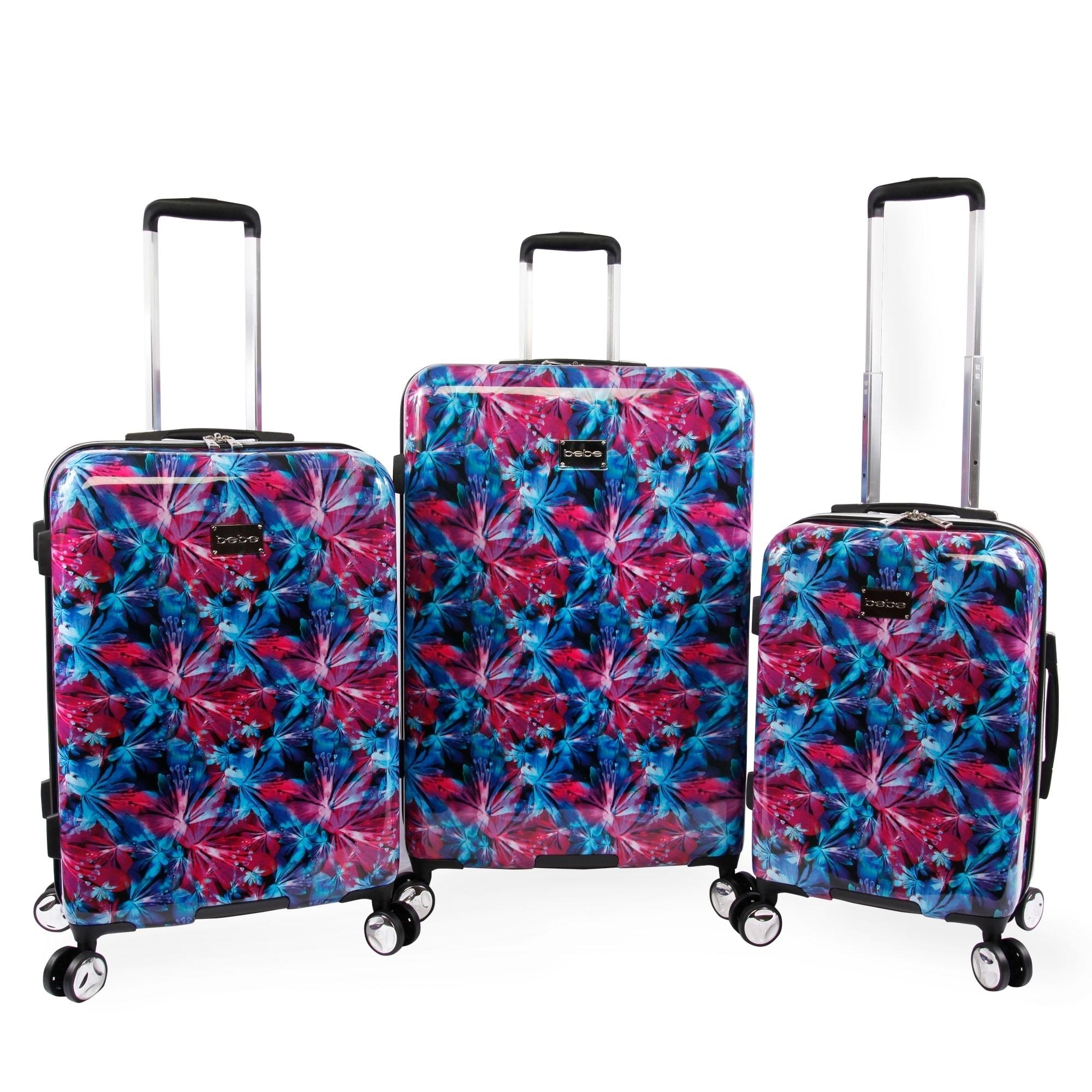 e1529393e01 Shop Bebe Tina 3-pc Hardside Spinner Luggage Set - Free Shipping Today -  Overstock - 24266126