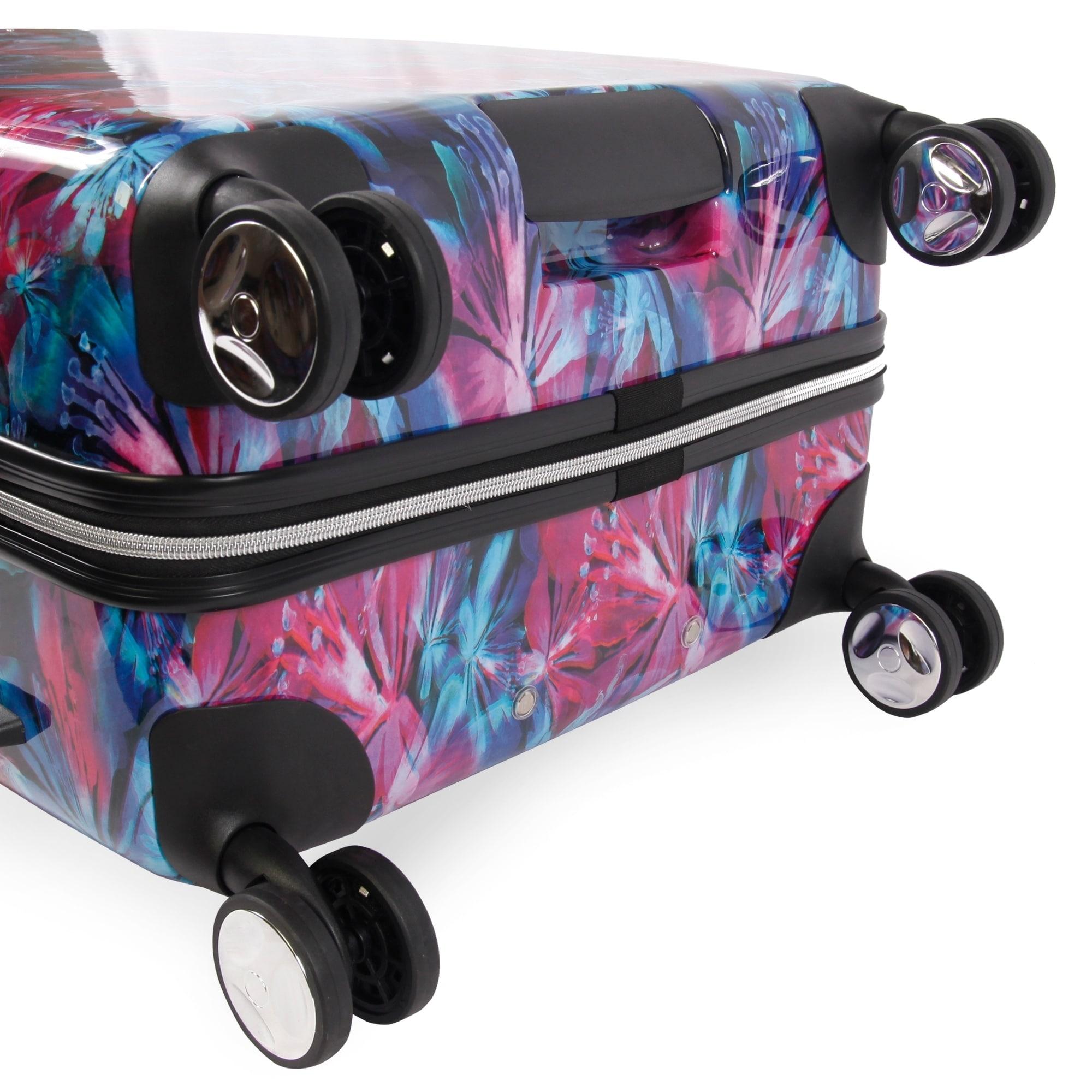 225c6c187 Shop Bebe Tina 3-pc Hardside Spinner Luggage Set - Free Shipping Today -  Overstock - 24266126