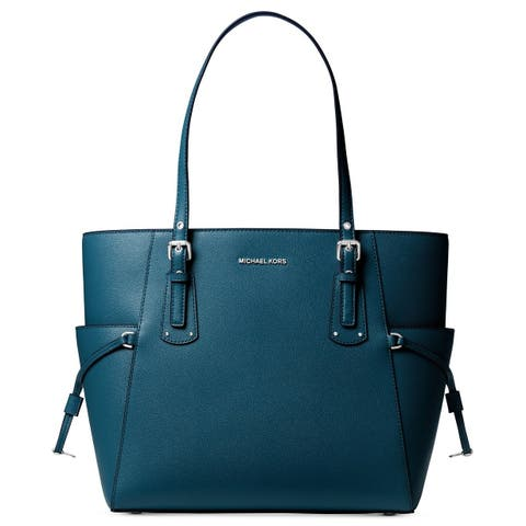 6a68e1abe81a Michael Kors Jet Set Medium Pocketed Top Zip Tote Bag. Details. 21. MICHAEL  Michael Kors Voyager East West Tote Luxe Teal/Silver