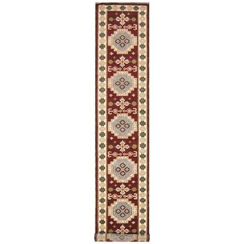 Handmade One-of-a-Kind Kazak Wool Runner (India) - 3' x 15'10