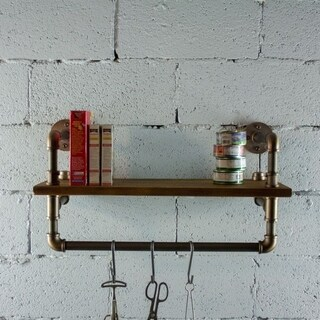 Furniture Pipeline Ann Harbor Display Multi-Purpose Pipe Shelf Rack