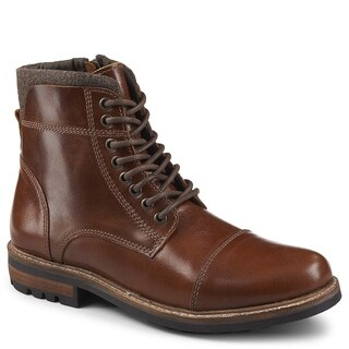 Franco Fortini Mens Superior Leather Lace Up Boot Shoes
