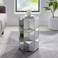 Silver Orchid Forrest Mirrored Glam Accent Table