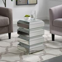 Silver Orchid Forrest Mirrored Accent Table