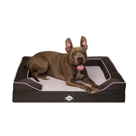 Sealy Lux Premium Lavender Infused Orthopedic and Memory Foam Dog Bed
