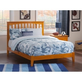 Mission Queen Traditional Bed in Caramel