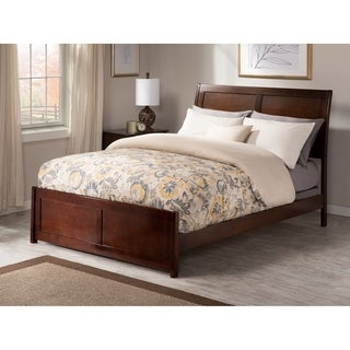 Portland Queen Traditional Bed with Matching Foot Board in Walnut