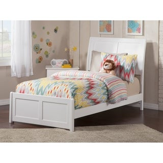 Portland Twin XL Traditional Bed with Matching Foot Board in White
