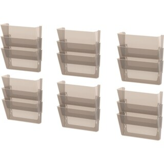 Storex Wall File, Letter Size, Smoke, 18-Pack
