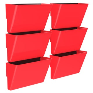 Storex Magnetic Wall Pocket, Letter Size, 6-Pack